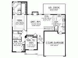 One Floor Small House Plans Single Floor House Plan Add Patio In Backyard Nook Add Deck To