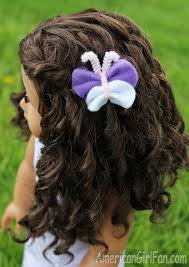 doll craft how to make a felt butterfly hair clip americangirlfan