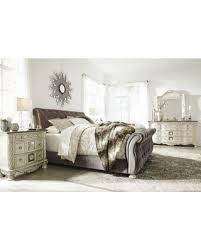 upholstered bedroom set amazing deal on cassimore north shore pearl silver upholstered