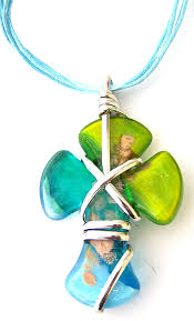 glass cross necklace images Murano glass cross necklace with free venice postcard gif