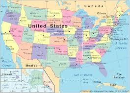 map usa states 50 states with cities states major cities map