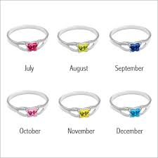 birthstone ring toddler butterfly birthstone rings in sterling silver with