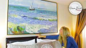 how to hang canvas art without frame how to hang a picture huge canvas or small with or without