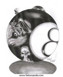 tattoo designs 8 ball 4