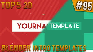 2d intro templates for blender top 5 blender 2d intro templates 95 free download youtube