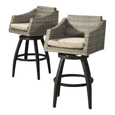 Outdoor Swivel Bar Stool Rst Brands Cannes All Weather Wicker Motion Patio Bar Stool With