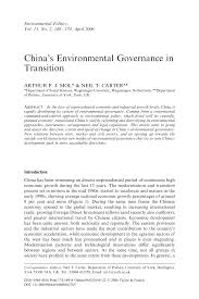 china u0027s environmental governance in transition