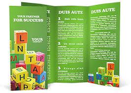 play school brochure templates abc brochure template design id 0000000610 smiletemplates