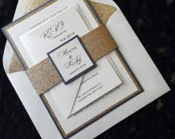 wedding invitations gold coast wedding invitation etsy
