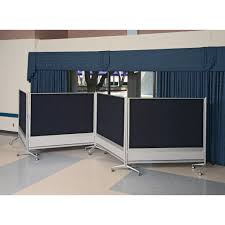 curtain room divider ideas interior black and white room divider with four panels and wheels