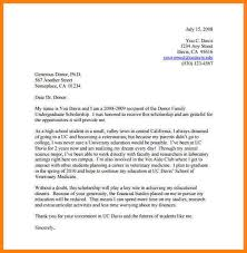 10 thank you letter scholarship letter format for