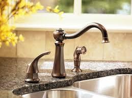 moen kitchen faucets oil rubbed bronze moen 7065orb vestige single handle kitchen faucet with matching