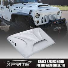 jeep avenger hood xprite monster front fiberglass hood with scoop vents for jeep