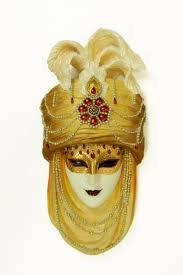 venetian mask venetian mask golden turban 31x14x5cm sale of venetian masks