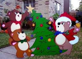 Christmas Outdoor Wood Decorations by 74 Best Yard Christmas Images On Pinterest Christmas Yard Art