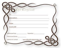 formal gift certificate template beautiful printable gift
