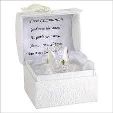 communion presents non personalised glass communion angel with poem communion
