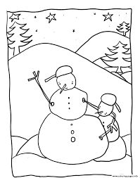 free winter snowman 3981 coloring pages printable