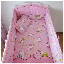 promotion 6pcs kitty bedding baby beds bumper bed