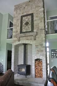 wood stove backsplash ideas home