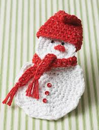 bernat snowman gift card holder crochet pattern yarnspirations