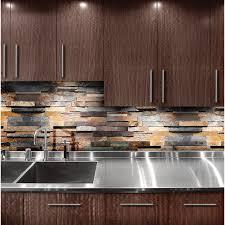 slate kitchen backsplash brown rusty slate kitchen backsplash tile cherry cabinet from