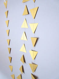 geometric garland triangle garland gold tribal garland gold