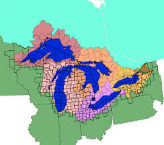 United States Canada Map by Great Lakes Facts And Figures The Great Lakes Us Epa