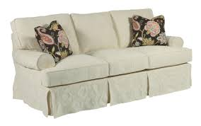 Pillow Back Sofas by Samantha Two Seat Sofa With Slipcover Tailoring U0026 Loose Pillow