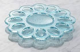 glass egg plate upcycle deviled egg plates into rustic jewelry dishes