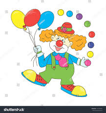 clown baloons clown clown balloons colorful stock illustration
