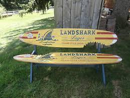 Jimmy Buffett Home Decor Landshark Beer Surfboard Sign New Landshark Lager Surfboard