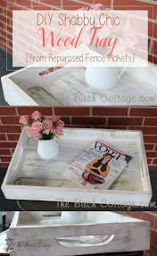 from weathered picket fence to shabby chic wood tray