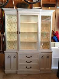 Macys China Cabinet China Cabinet Refinished In Paris Gray And Old White For Sale