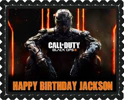 call of duty cake topper call of duty ops 3 edible birthday cake topper