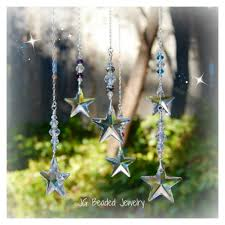 crystal home decor swarovski crystal star ornament rearview mirror car charm