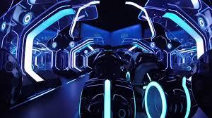tron roller coaster pov shanghai disneyland tron light cycles