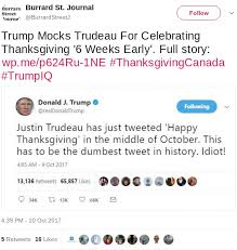 Canadian Thanksgiving History Fact Check Trump Mocks Trudeau For Celebrating Thanksgiving 6