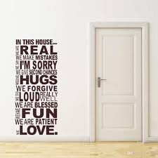 wall stickers quotes house rules online free shipping large size family house rules quotes and sayings stickers wall decal removable art vinyl sticker home decor