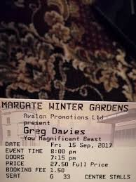 greg davies you magnificent beast margate in uxbridge london
