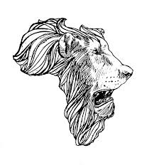 tattoo design lion http www tattooshunt com images 36 lion head african map tattoo