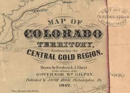 Map Denver Colorado by Mapping Early Colorado And The University Of Denver Mapping The
