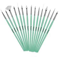 twinkled t mint coco nail art 15 pc brush set twinkled t 10