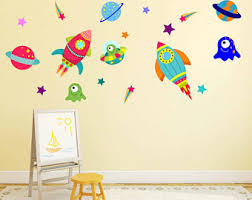 Kids Room Wall Decor Stickers by Space Wall Decals Etsy