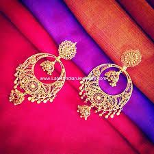 s gold earrings best 25 chand bali earrings gold ideas on indian