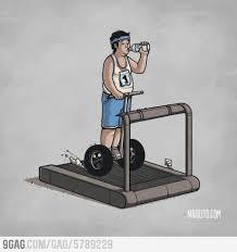Treadmill Meme - way to use a treadmill