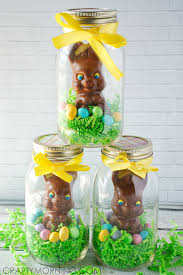 easter chocolate bunny jar chocolate easter bunny gifts crafty morning