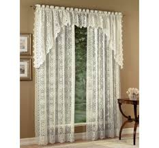White Lace Shower Curtain With Valance by Lace Curtain Panels Heritage Lace Curtains Altmeyer U0027s Bedbathhome