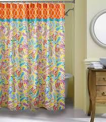 Dillards Shower Curtains Bianca Contemporary Red U0026 Beige Designer Shower Curtain With Hook