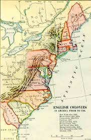 colonial america map 13 colonies